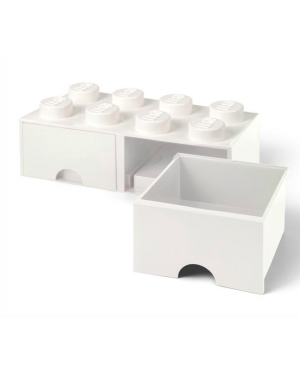 LEGO - BOITE DE RANGEMENT TIROIR - 8 plots - Blanche
