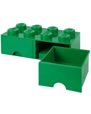 LEGO - BOITE DE RANGEMENT TIROIR - 8 plots - Vert