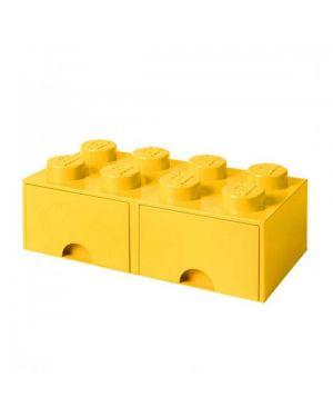 LEGO - BOITE DE RANGEMENT TIROIR - 8 plots - Jaune