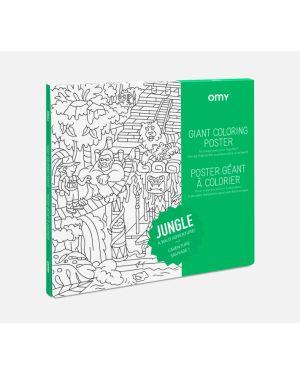 Omy - Poster à colorier - Jungle - 100 x 70 cm