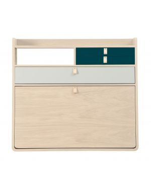 Harto - Gaston wall secretary - Oak - 80 cm - different colors available for drawer