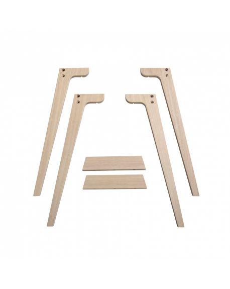 Oliver Furniture - Extra Legs Wood Desk - 66 cm