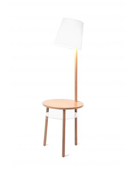 Harto - Lampe Guéridon Josette - Blanc