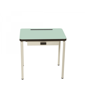 LES GAMBETTES REGINE - Vintage Design school desk for kids 2-7 y.o. - Mint green