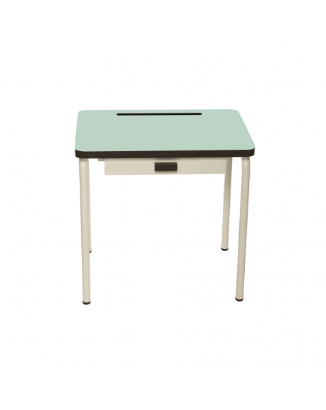 LES GAMBETTES REGINE - Vintage Design school desk for kids 2-7 y.o. - Mint green
