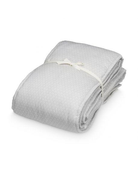 CAM CAM COPENHAGEN - Organic Cotton Cot Bumper - Grey Waves