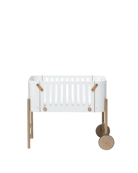 Oliver Furniture - Multi-function Baby Bed - Co-Sleeper, Cradle, Bench Conversion Kit included - White/Oak