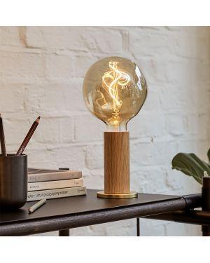 Tala - Knuckle Lampe de table en chêne avec Voronoi I