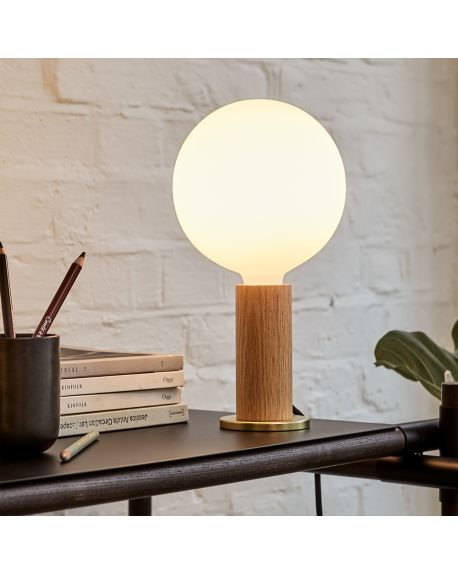 Tala - Knuckle Table Lamp Oak with Sphere IV