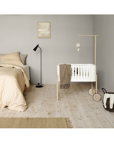 Oliver Furniture - Lit bébé Multi-fonction - Cododo Berceau et Banc - Kit de conversion compris