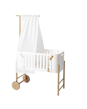 Oliver Furniture - WOOD HOLDER FOR BED CANOPY & MOBILE, OAK for Multi-function Baby Bed - Co-Sleeper, Cradle