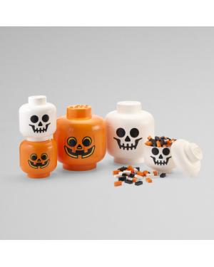 LEGO - STORAGE BOX - Head Halloween pumpkin or skeleton - 2 sizes