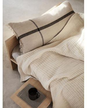 Ferm LIVING - Calm Cushion 40x90 cm - Camel/Black
