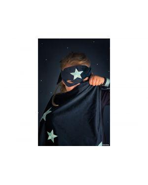 Nobodinoz - Superhero eco-velvet costume night blue