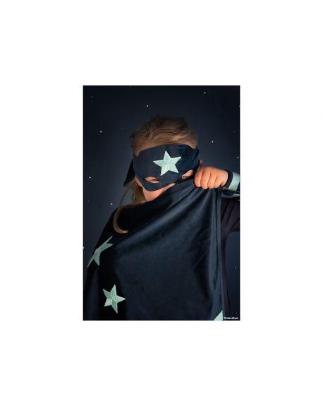 Nobodinoz - Superhero eco-velvet costume bloom pink