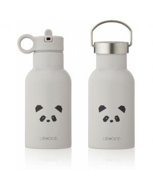 Liewood - Gourde à eau en acier Anker - Panda Gris