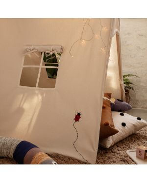FERM LIVING KIDS - Tent with Ladybird Embroidery - Natural