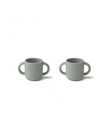 Liewood - Gene Silicone Cup 2 Pack - Rabbit dove blue