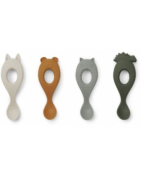 Liewood - Liva silicone spoon 4-pack