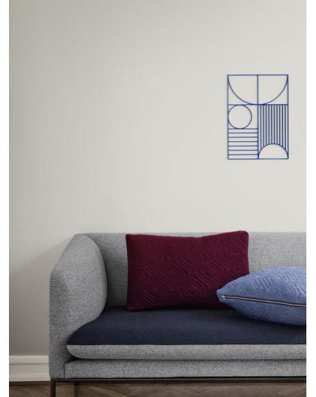 Ferm LIVING - Quilt Cushion - Light Blue