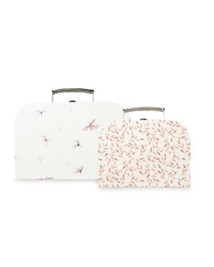 CAM CAM COPENHAGEN - Kids Suitcases - Set of 2 - FSC Mix - Mix Windflower Creme - Caramel Leaves