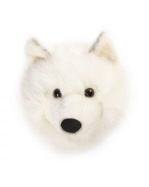 WILD & SOFT - Trophée en peluche - Tête loup blanc - Lucy