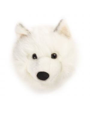 WILD & SOFT - Trophy in plush - head white wolf - Lucy
