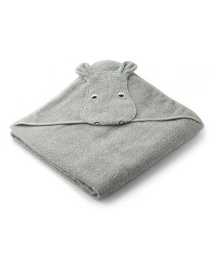 Liewood - Augusta Hooded Towel - Hippo - Dove Blue