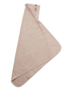 Liewood - Cape / serviette de Bain Albert - Chat - Rose
