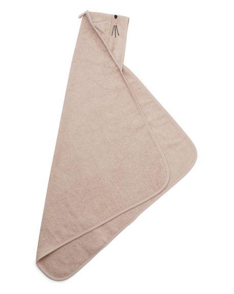Liewood - Cape / serviette de Bain Albert - Chat - Rose