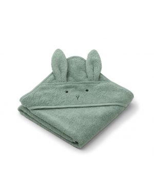 Liewood - Albert Hooded Towel - Rabbit -Peppermint