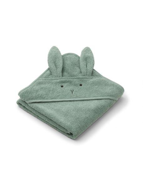 Liewood - Cape / serviette de Bain Albert - Lapin - Vert Menthe poivrée