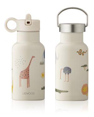 Liewood - Gourde à eau en acier Anker - Safari Mix - Sable