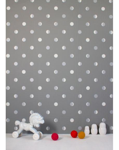 BARTSCH - WALLPAPER - Moon crescents Grey Mistigri