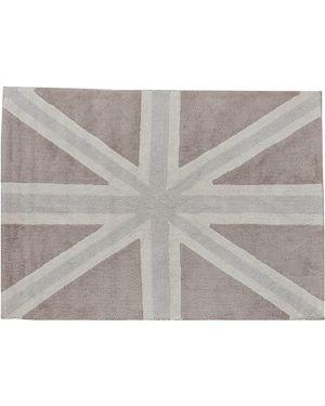 LORENA CANALS-TAPIS COTON FLAG UK - GRIS 140 x 200 cm