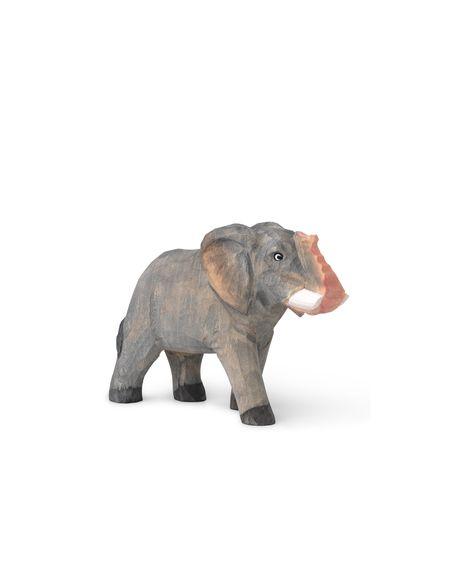 FERM LIVING KIDS - Jouet Elephant sculptée à la main