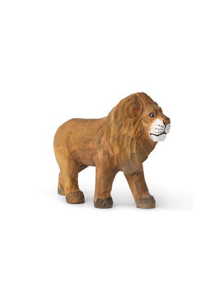 FERM LIVING KIDS - Figurine Lion sculpté à la main