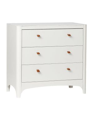 LEANDER - Commode Classic 3 tiroirs - blanche