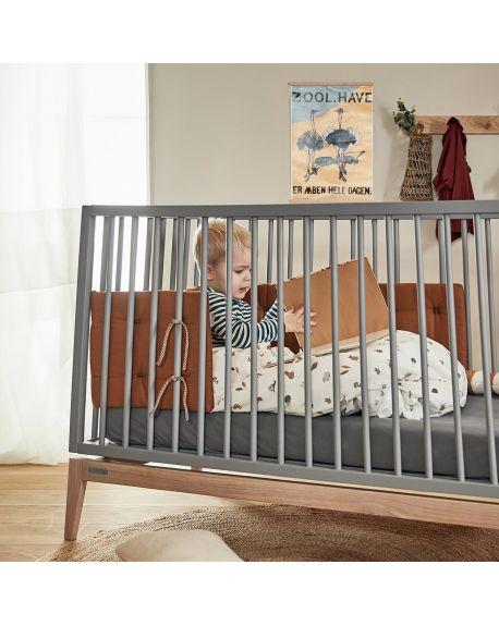 LEANDER Lit bébé 140x70 cm LUNA, Gris/Chêne