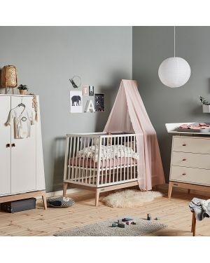 CANOPY FOR LEANDER LINEA™ AND LUNA™ BABY COT, DUSTY ROSE