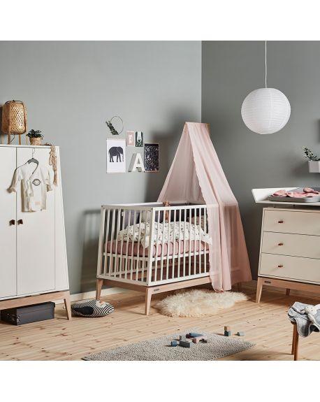 LEANDER Voile de lit bébé Linea Rose Pale