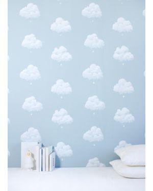 BARTSCH - WALLPAPER - Cotton clouds Blue smoke