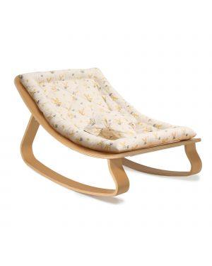 CHARLIE CRANE - Baby Rocker Levo in Beech with Garbo & Friends Mimosa cushion