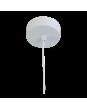 LA CASE DE COUSIN PAUL - Suspension simple - 1 Fil - cylindre plastique 80cm tissé blanc