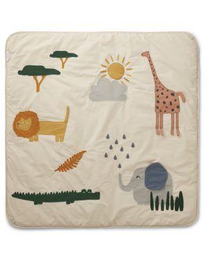 Liewood - Glenn activity blanket - Safari Sandy mix