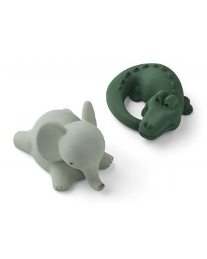 Liewood - Vikky bath toys - Pack of 2 - Safari green mix
