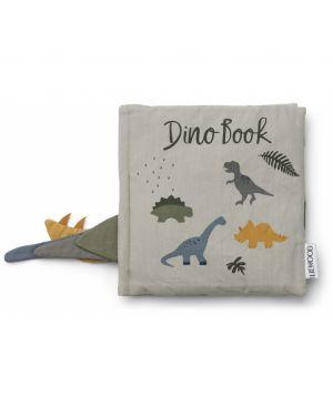 Liewood - Dennis dino book - Dove blue mix