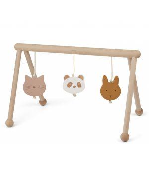 Liewood - Arche d'éveil en bois avec jouets - Bleue