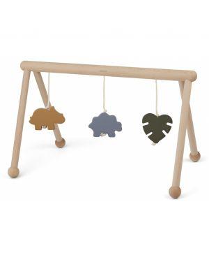 Liewood - Arche d'éveil en bois avec jouets - Dino mix