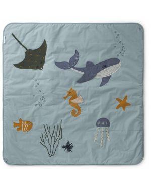 Liewood - Gleen activity blanket - Sea creature rose mix